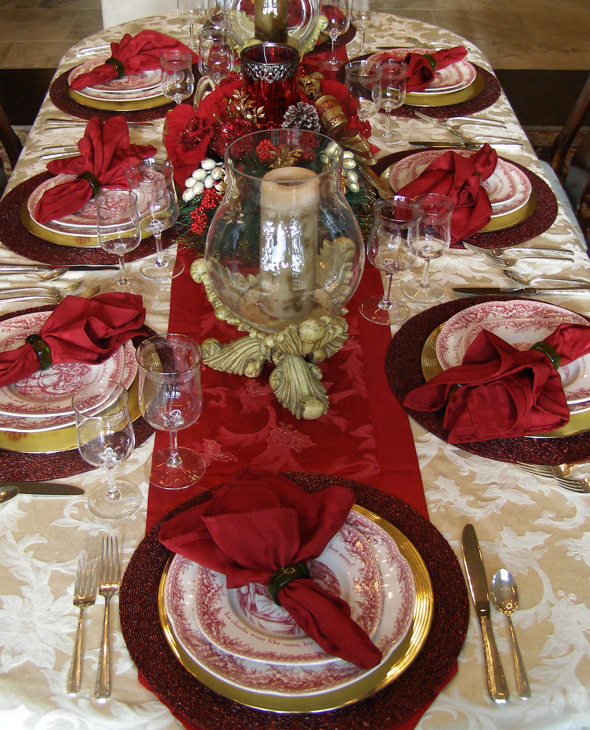 Christmas table decoration instyle fashion one Dinner table setting pictures
